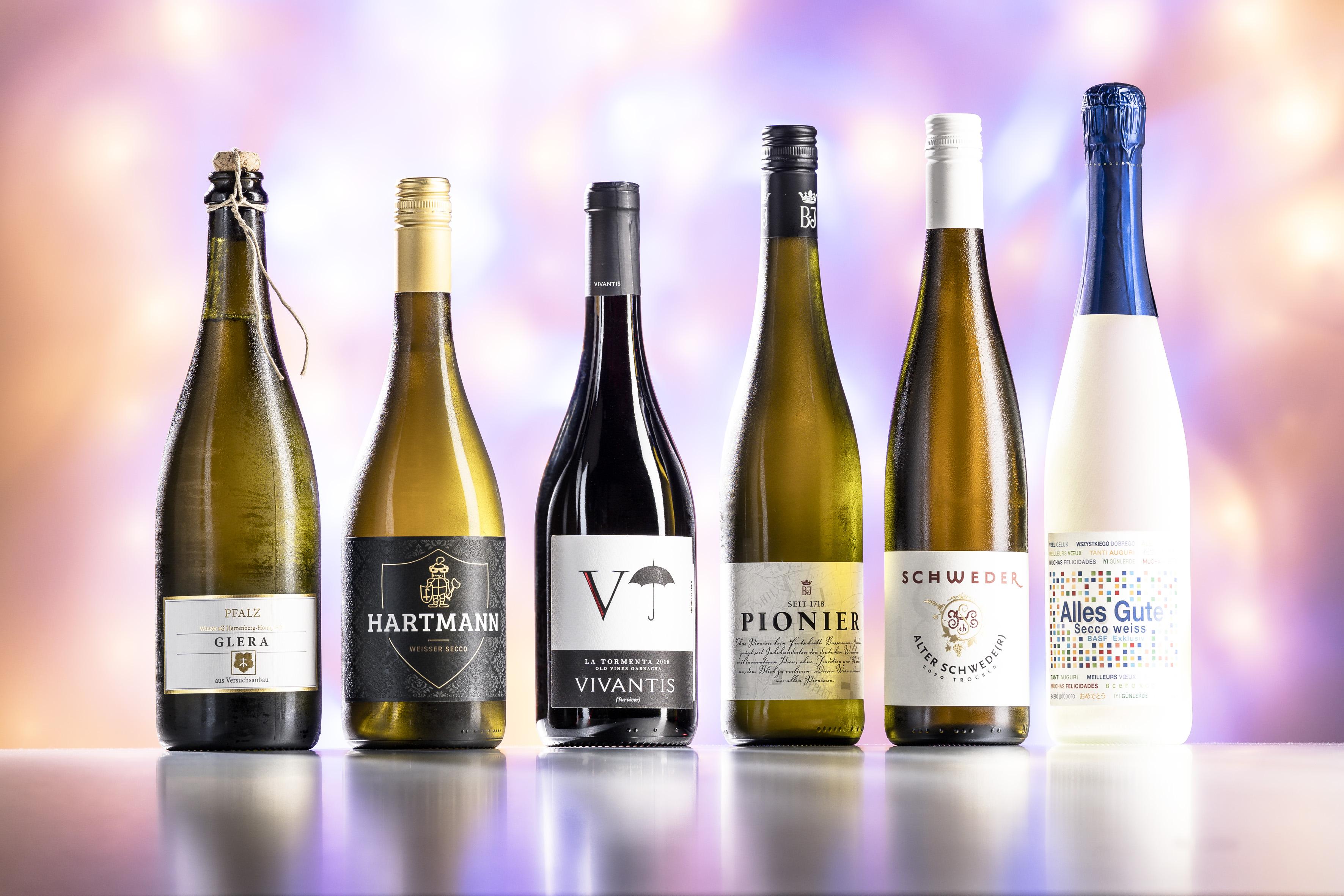 Wein- und Sektpaket zum MM-Jubiläum aus dem BASF-Weinkeller