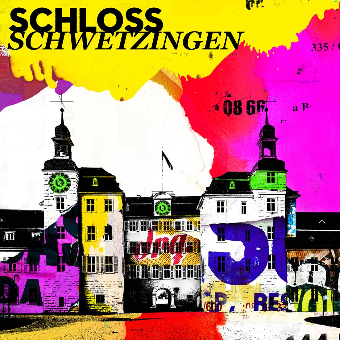Schloss Schwetzingen - Format 100 x 100 cm