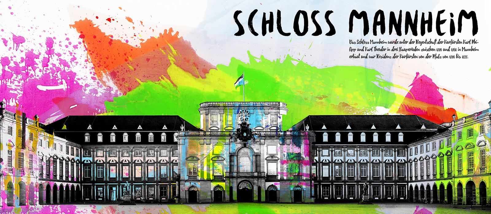 Schloss Mannheim - Format 140 x 70 cm