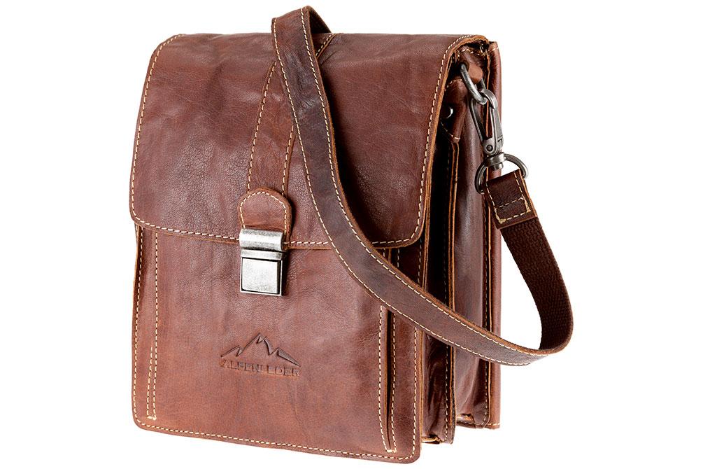 Handbag GALILEO - Leder brandy