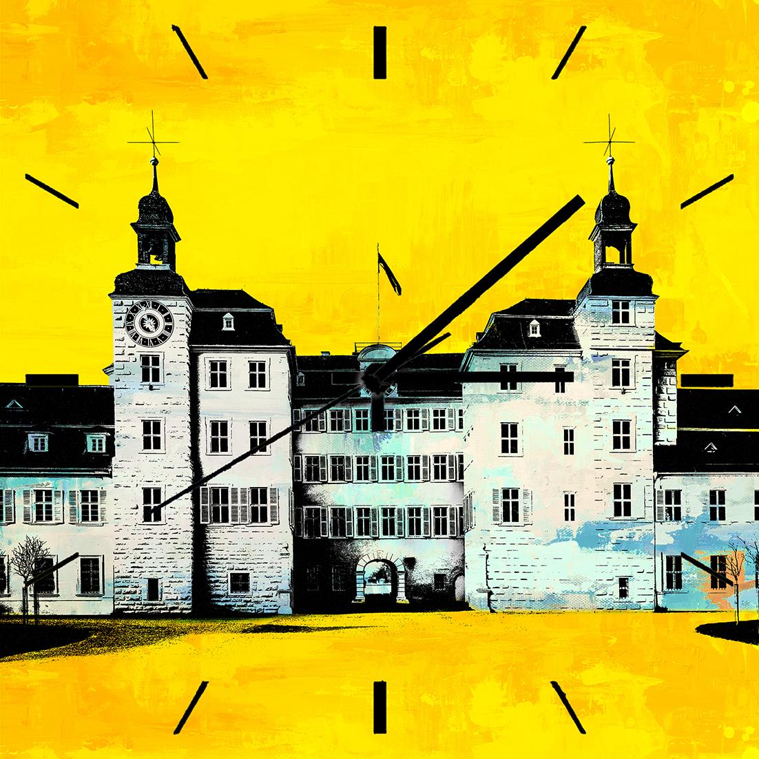 Wanduhr Schwetzingen - Format 35 x 35 cm